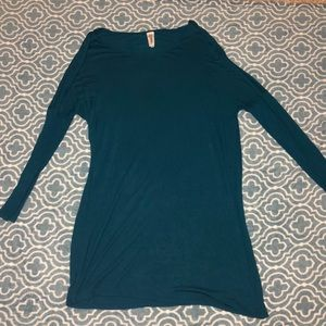 Greenish Blue Piko Dress